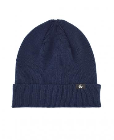 PS By Paul Smith Navy Merino Wool Beanie Hat