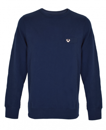 Navy Metal Horseshoe Sweatshirt