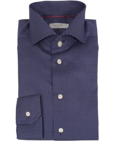 Eton Shirts Navy Micro Dot 24827351127 Shirt