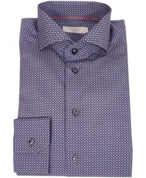 Eton Shirts Navy Micro Patterned Slim Fit Shirt