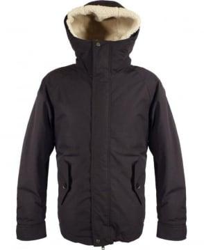 Baracuta Navy Modern Eskimo Faux Fur Hood Coat