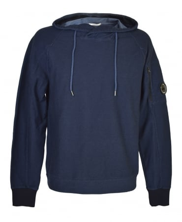 CP Company Navy MSS124A Hooded Lens Sweatshirt