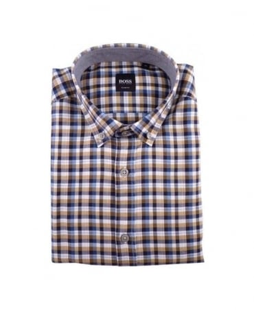 Hugo Boss Navy & Multi Check Sven Shirt