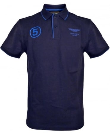 Hackett Navy No 5 Aston Martin Polo Shirt