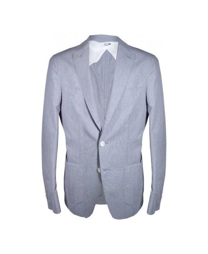Acquaviva Navy Noise Cotton Jacket