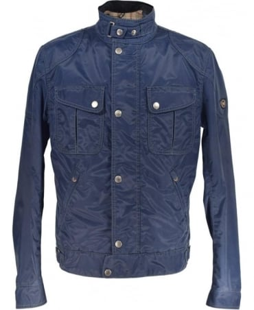 Matchless  Navy Nylon Blouson Jacket