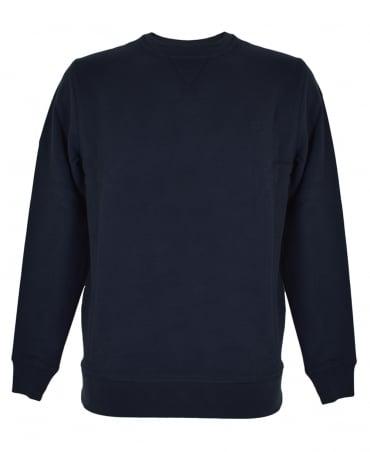 Aquascutum Navy Oliver Crew Neck Sweatshirt