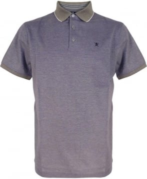 Hackett Navy Oxford Pique Polo