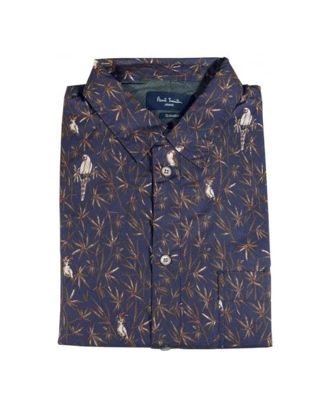 96804f4a Paul Smith Navy Parrot Tailored Fit Shirt - Shirts from Jonathan ...