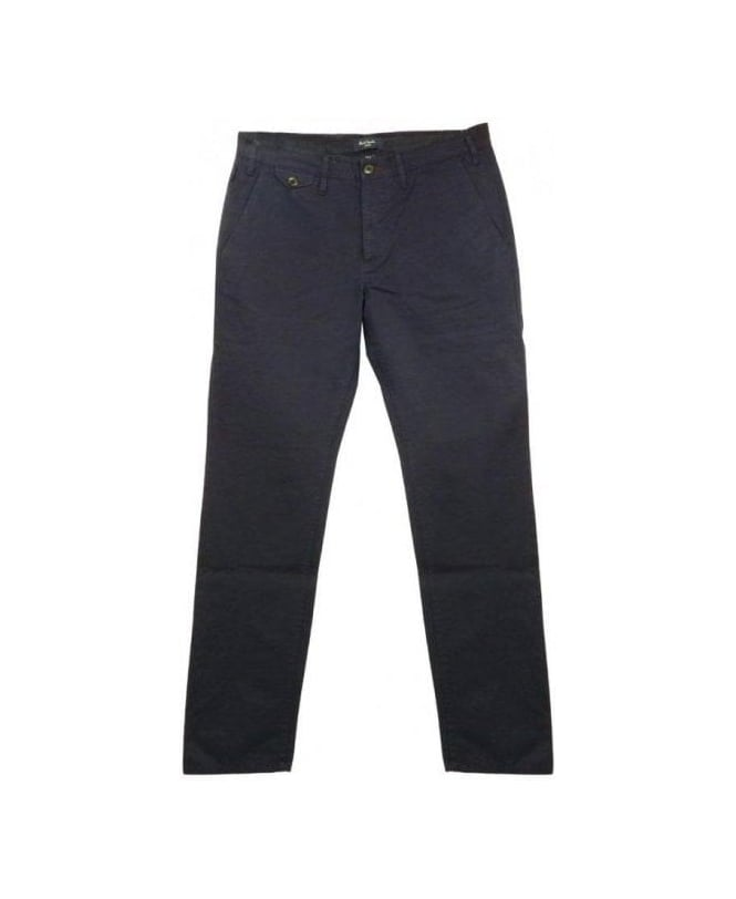 Paul Smith - Jeans Navy Pattern Trim Chino