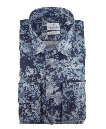 Navy Patterned 217-056 Shirt