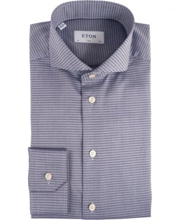 Eton Shirts Navy Patterned 320973511 Slim Fit Shirt