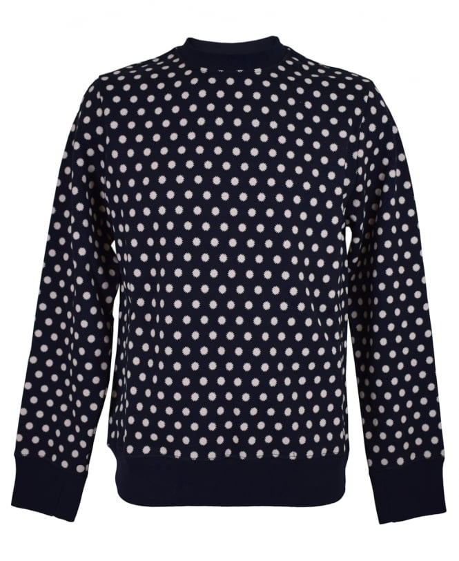 PS Paul Smith Navy Patterned PTXD/434R/P10790 Sweatshirt