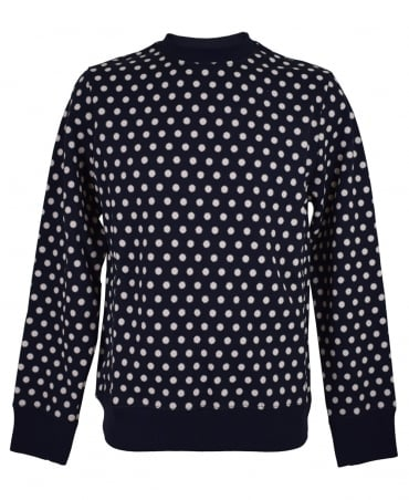 PS By Paul Smith Navy Patterned PTXD/434R/P10790 Sweatshirt