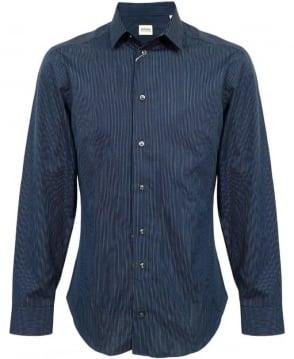 Armani Collezioni Navy Pin Stripe NCC46 Shirt