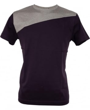 Paul Smith  Navy PMXD/877N/450 Two Tone Split T-shirt