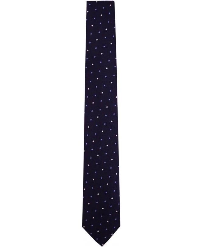 Paul Smith - Accessories Navy Polka Dot ANXA-765L-Y48 6cm Tie