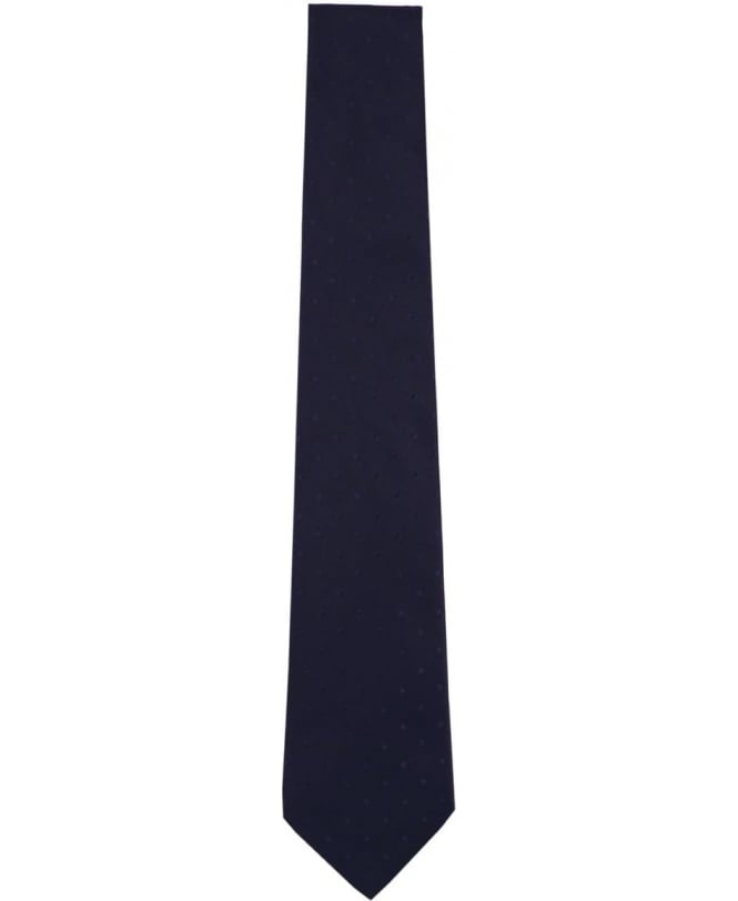 Paul Smith Navy Polka Dot APXA/552M/Z07 8cm Blade Tie