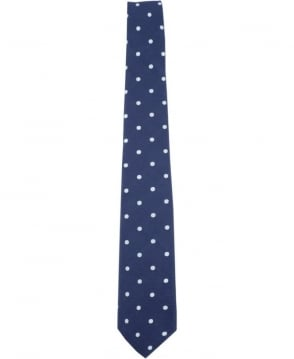 Paul Smith - Accessories Navy Polka Dot APXA/765LZ45 6cm Blade Tie