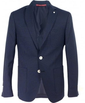 Hugo Navy Polka Dot C-Raye Two Button Jacket