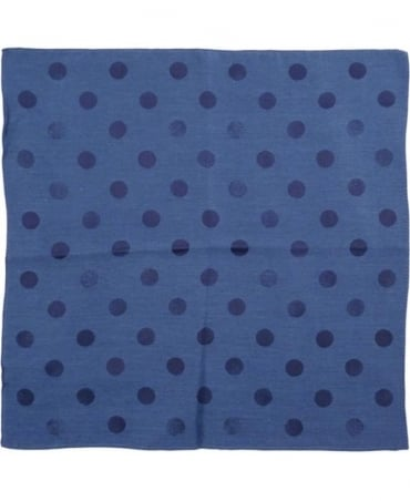 Paul Smith - Accessories Navy Polka Dot Pocket Sqaure