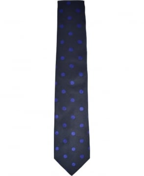 Paul Smith  Navy Polka Dot Tie