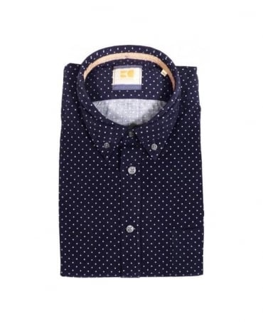 Hugo Boss Navy Polka Equator Shirt