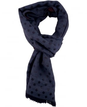 Paul Smith - Accessories Navy Polka Moose ANXA-637C-S343 Scarf
