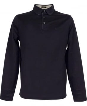 Hugo Boss Navy Pressler 02 50304166 Long Sleeve Polo