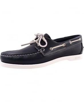 Gant Navy Prince White Sole Boat Shoe