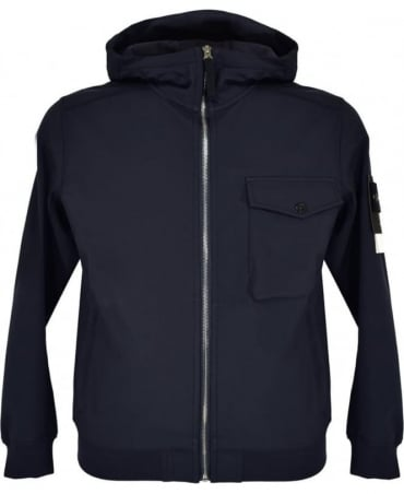 Stone Island Navy Q0622 Soft Shell-R Jacket