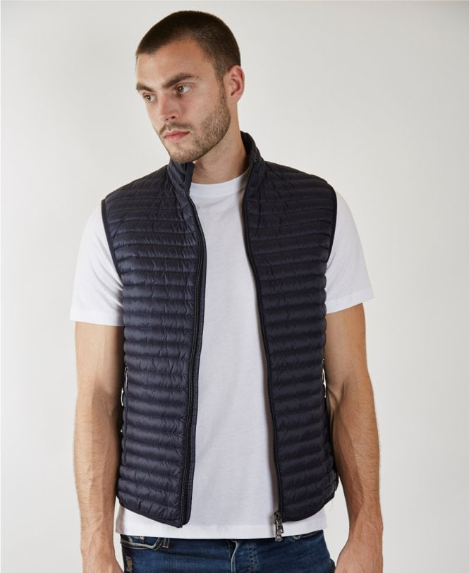 805283b34 Navy Quilted Down Padded Gilet