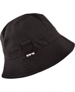 Aquascutum Navy Reversible Club Check Bucket Hat
