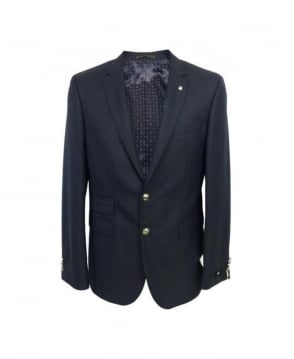 Hugo Boss Navy Rhettison Single Breasted Blazer