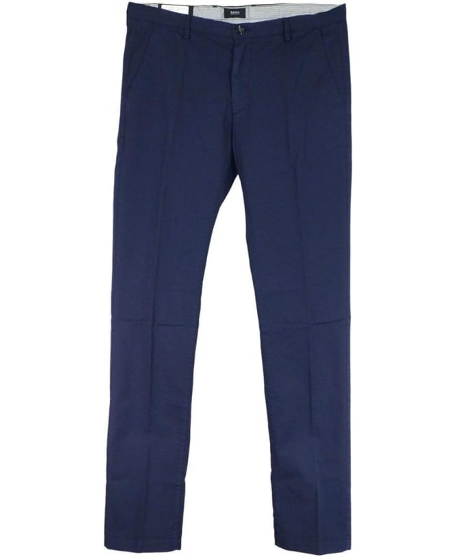 Hugo Boss Navy Rice-3 Slim Fit Chinos