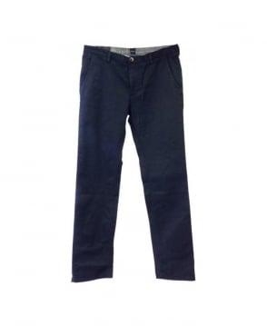 Hugo Boss Navy Rice Chino Trousers