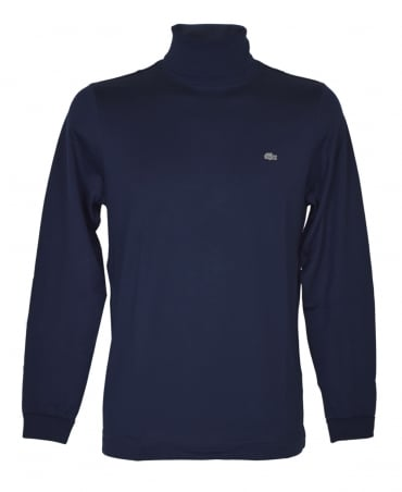 Lacoste Navy Roll Neck T-Shirt