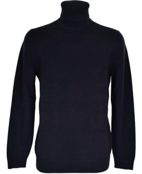 Hugo Navy Rollneck 'Siseal' Knitwear Jumper