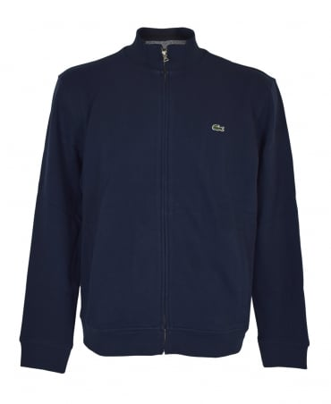 Lacoste Navy SH6948 Stand Up Collar Sweatshirt