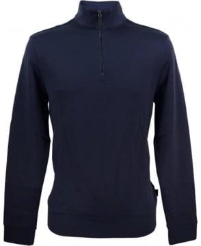 Hugo Boss Navy Sidney 50308286 Half Zip Sweatshirt