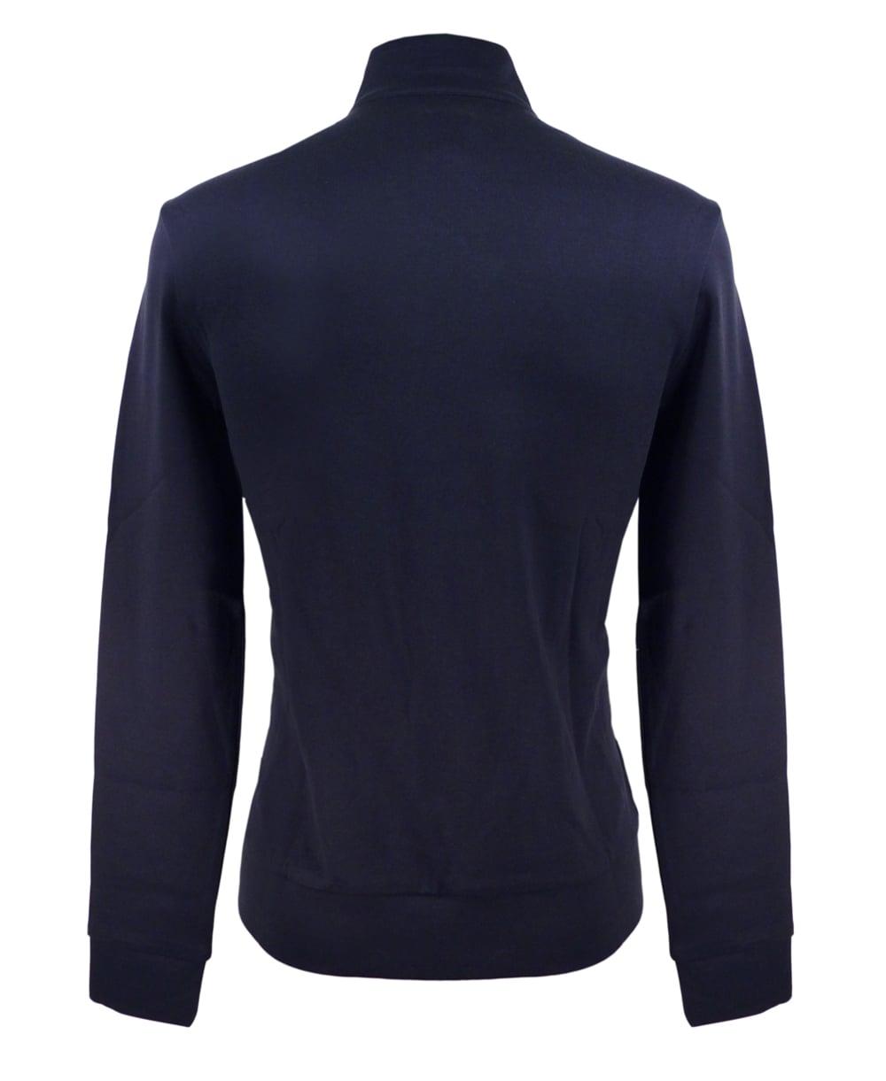 hugo boss navy sidney 50308286 half zip sweatshirt hugo. Black Bedroom Furniture Sets. Home Design Ideas