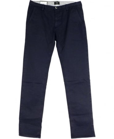 Hugo Boss Navy Slim Fit 50284629 Rice 1-D Trousers