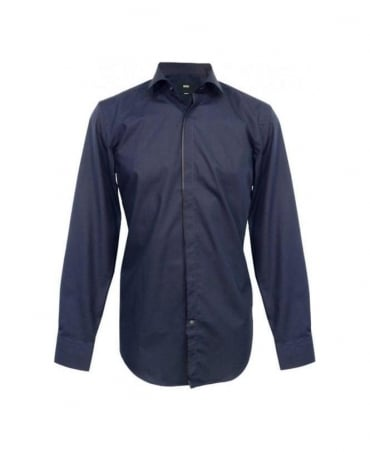 Hugo Boss Navy Slim Fit Jamison Shirt