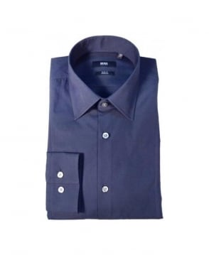 Hugo Boss Navy Slim Fit Stretch Shirt