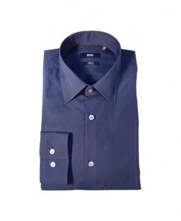Hugo Boss Navy Slim Fit Stretch Shirt