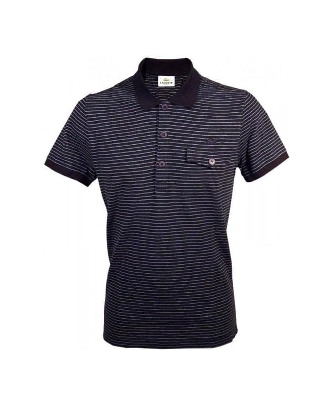 Lacoste Navy Slim Stripe Polo