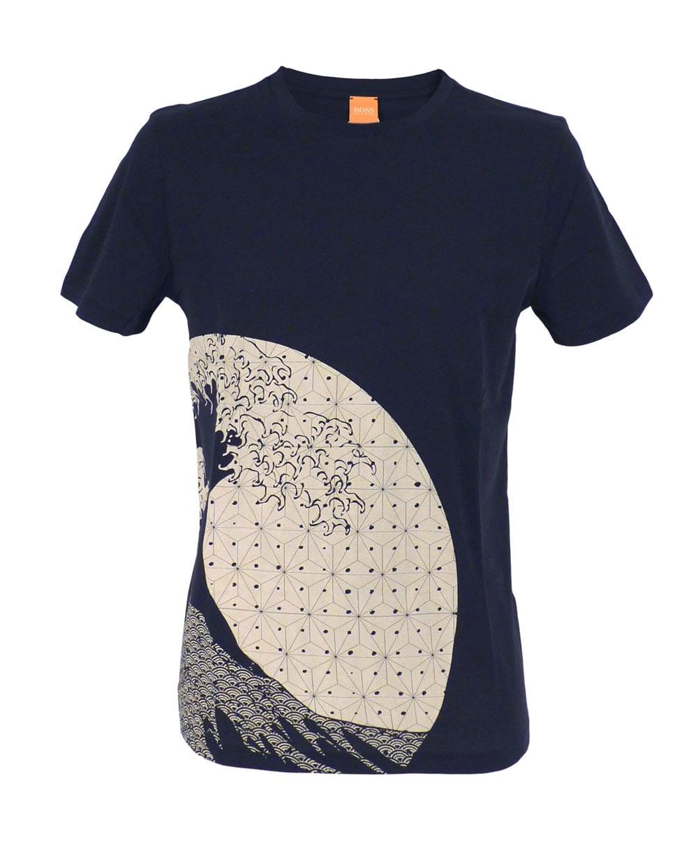 Hugo boss navy sons of japan design 39 tomsin 5 39 t shirt for Hugo boss navy shirt