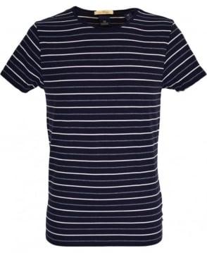 Scotch & Soda Navy Stripe Crew Neck 'Combo C' T/Shirt