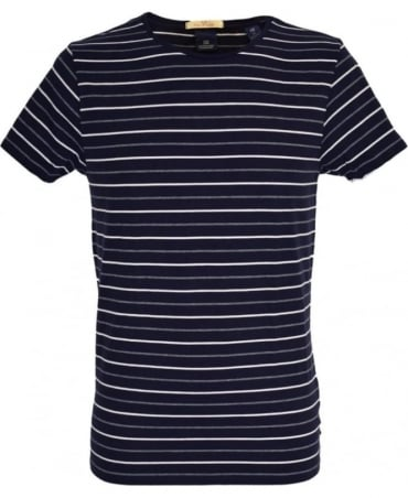 Scotch & Soda Navy Stripe Crew Neck 'Combo C' T/Shirt