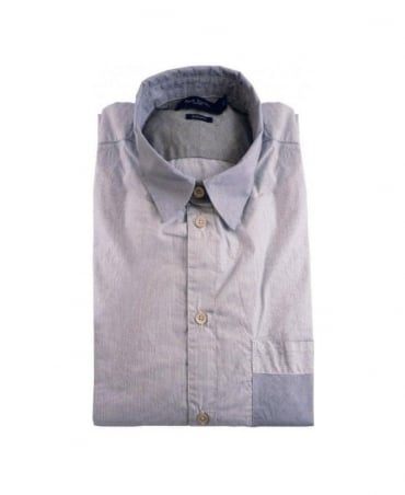 Paul Smith - Jeans Navy Stripe LS Tailored Fit Shirt